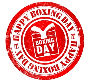 happy boxing day stamp