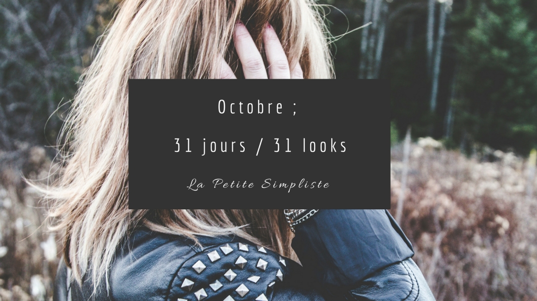 Cover ; octobre 31 jours 31 looks